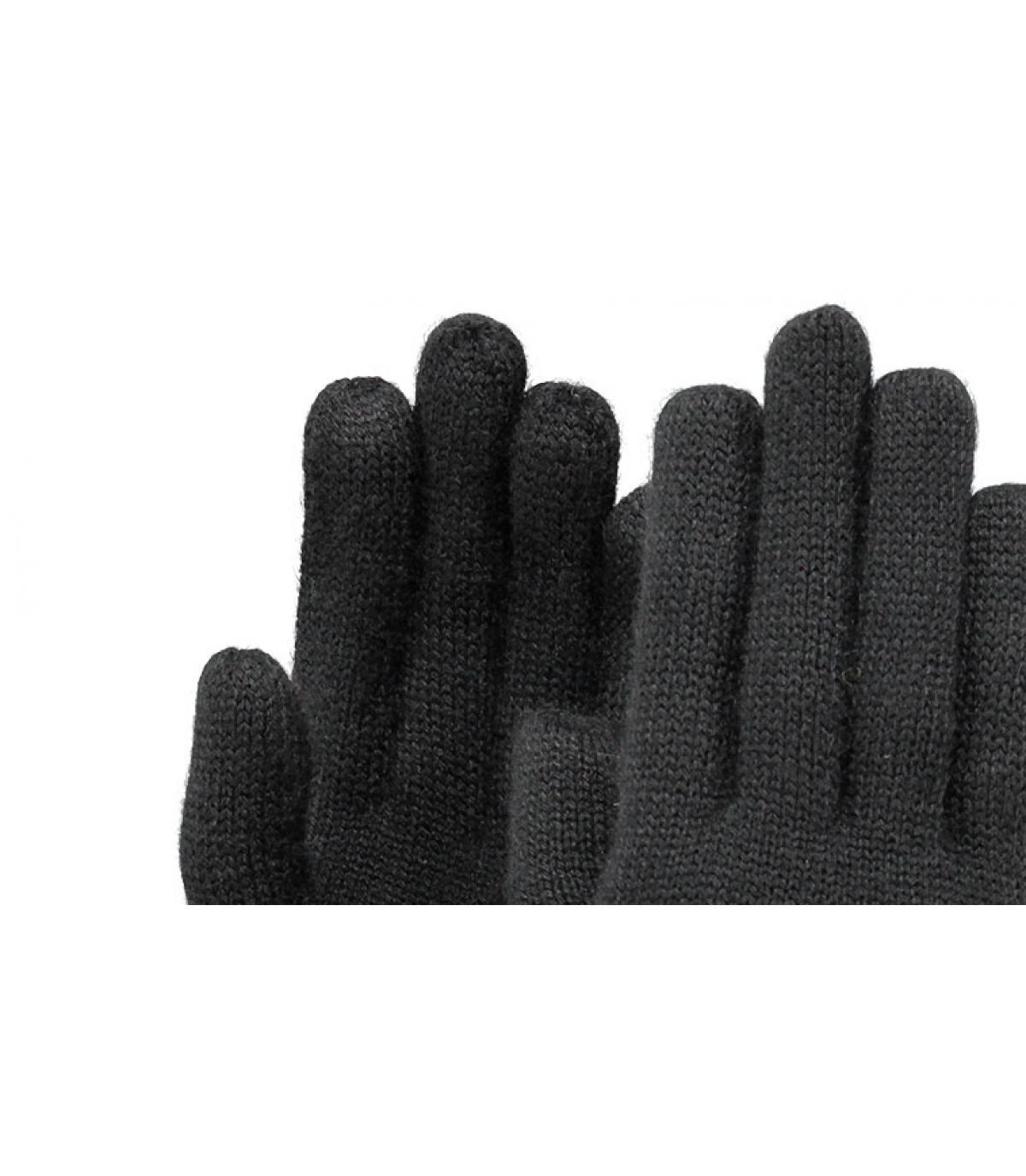 Fine Knitted Gloves negro
