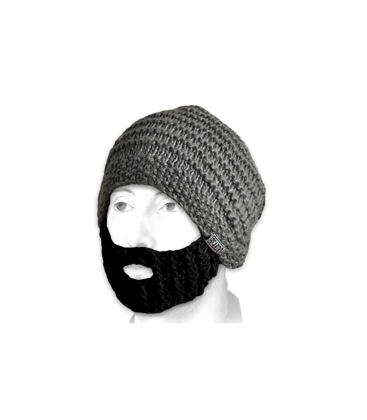 Gorro barbe gris negro