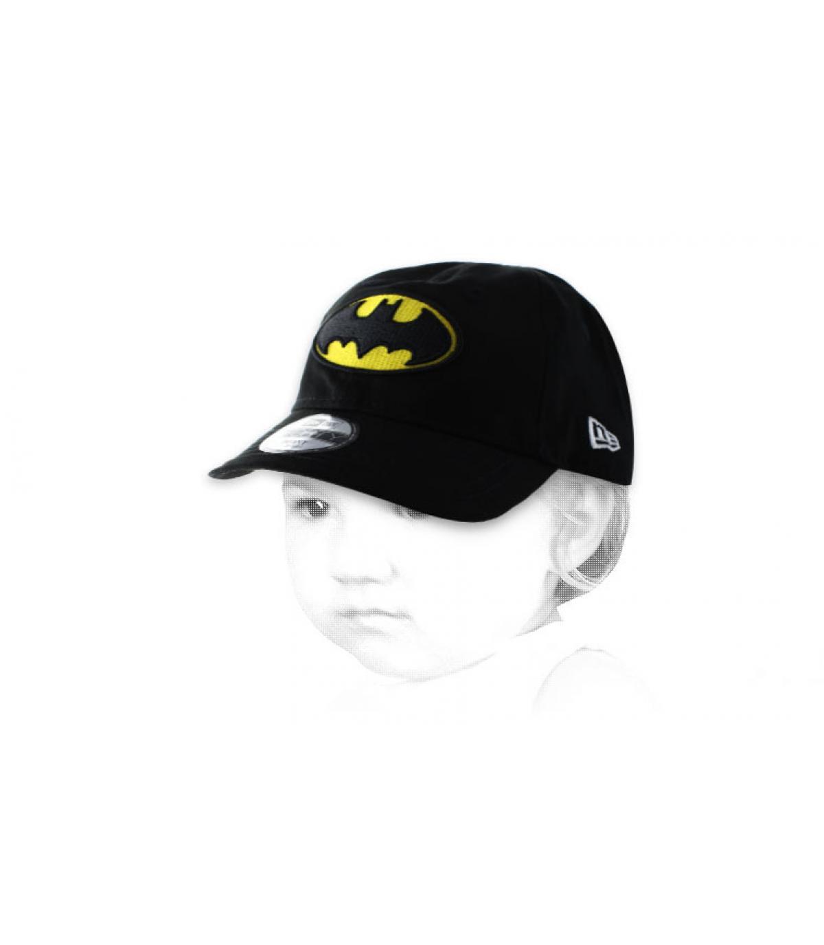 Batman casquillo negro del bebé