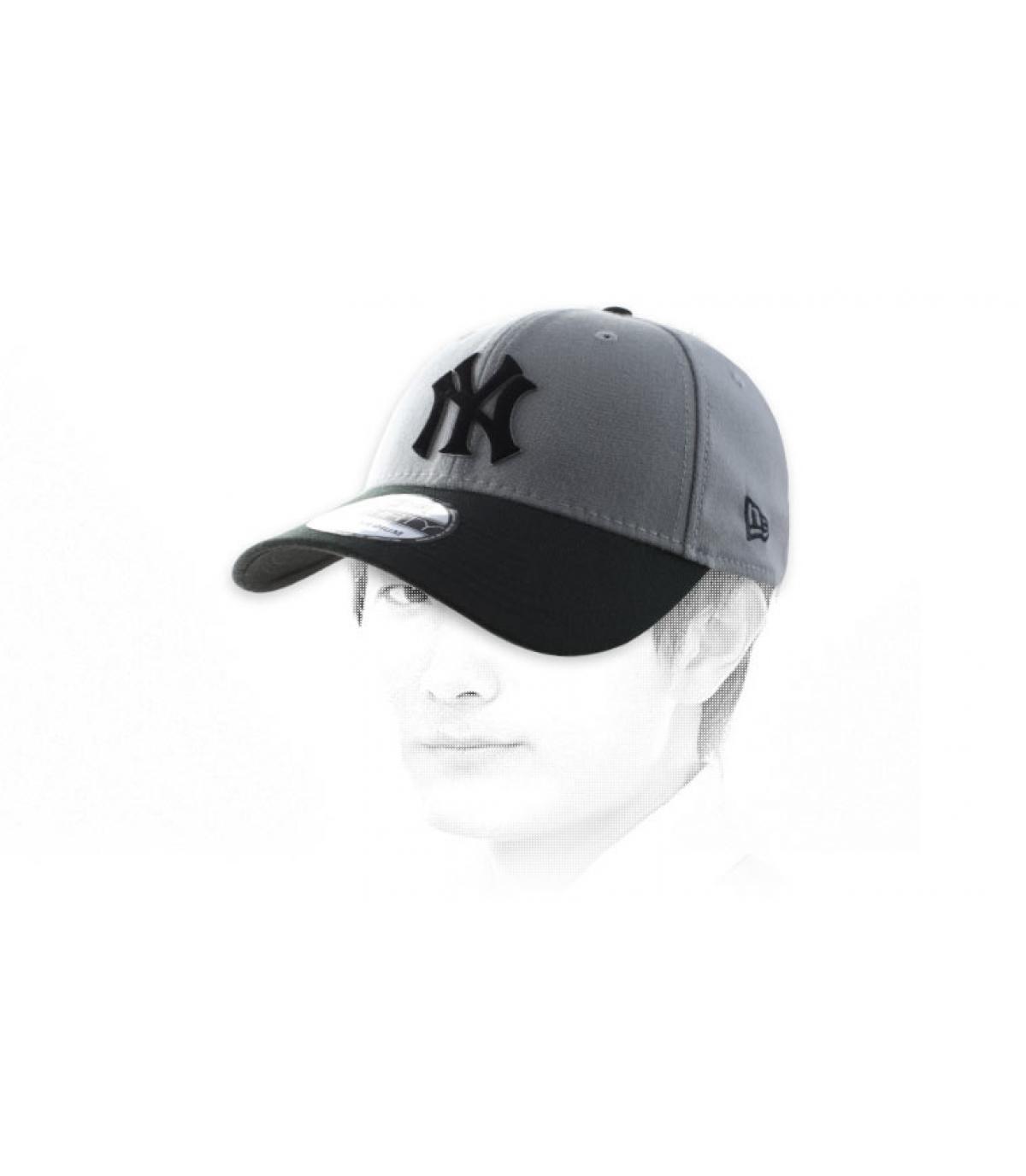 NY negro gorra gris