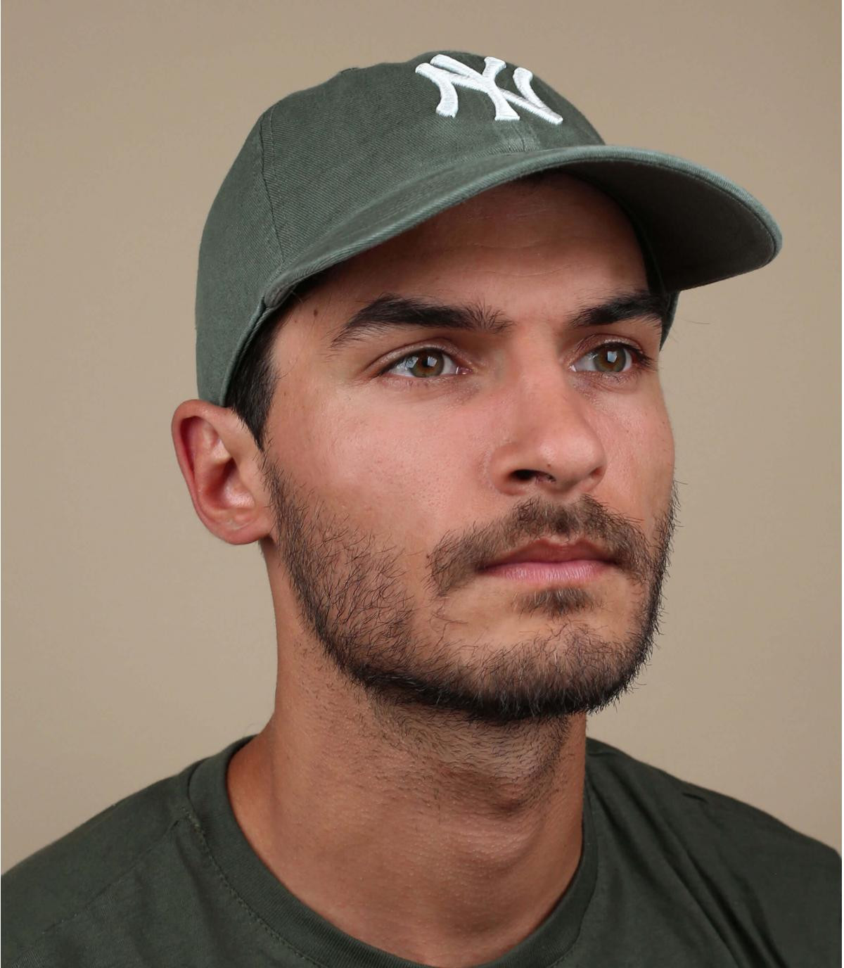 NY caqui gorra verde