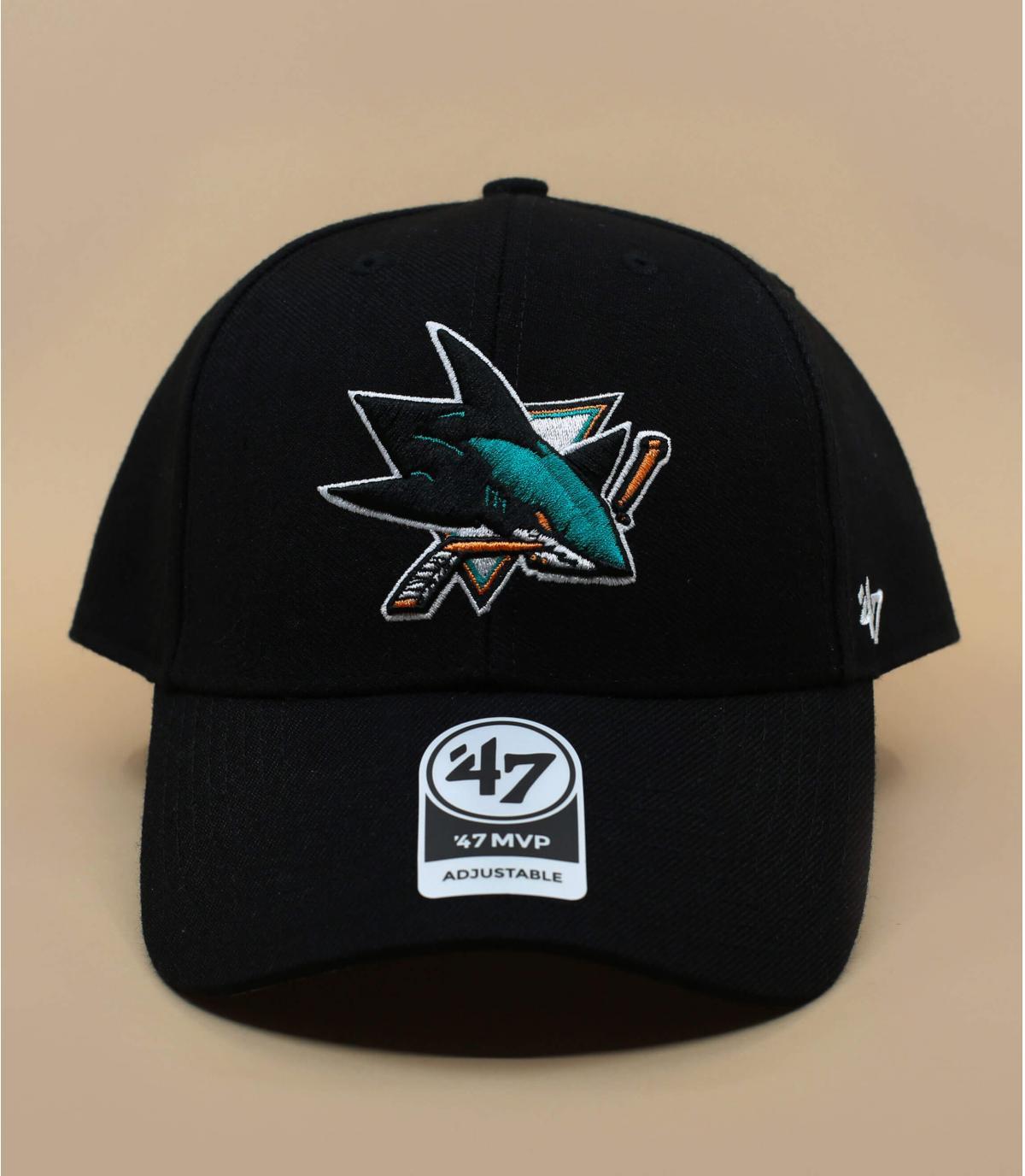 visera negro San Jose Sharks