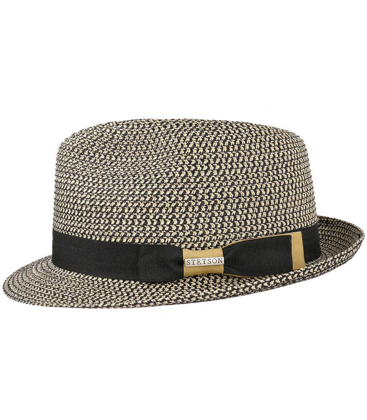 sombrero flexible trenzado gris Stetson
