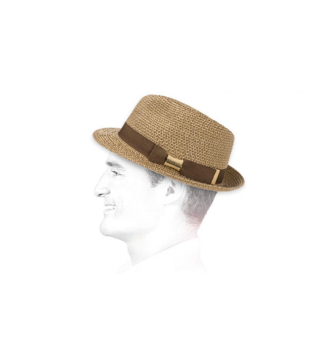 Stetson sombrero flexible trenzado bicolor