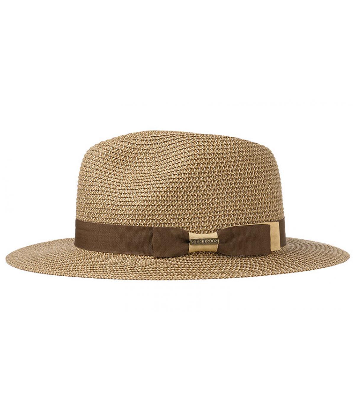 sombrero de paja rayas borde ancho