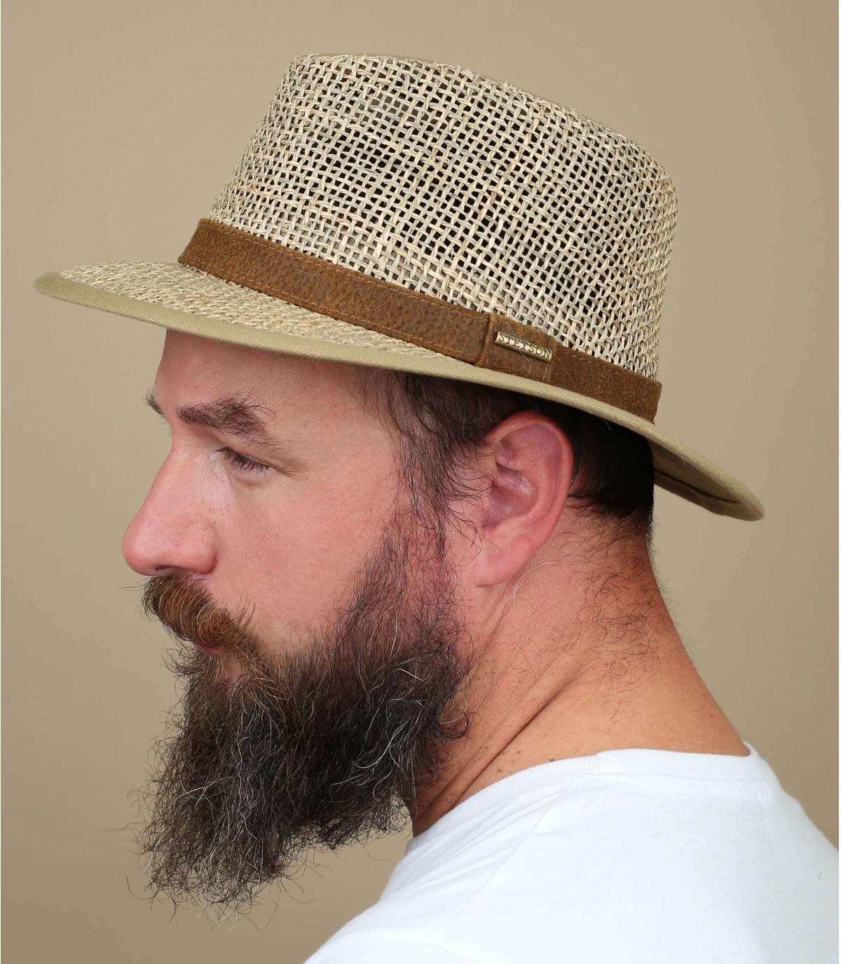 bordes anchos Stetson sombrero de paja
