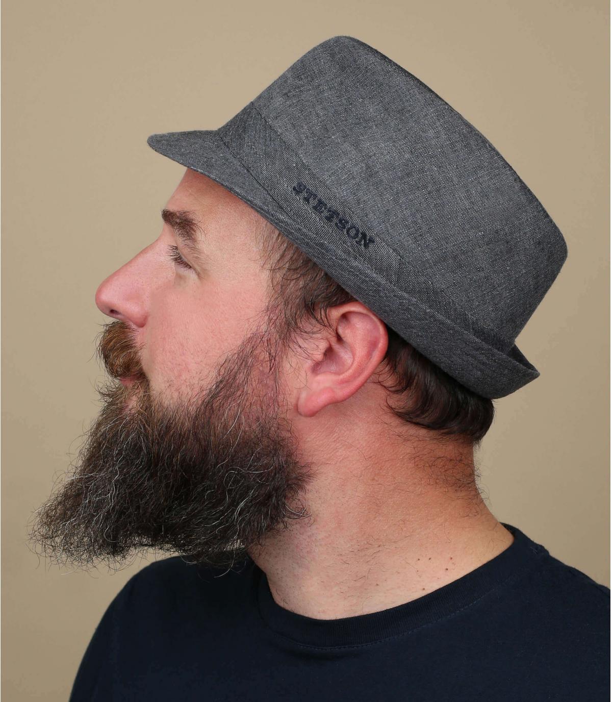 Stetson sombrero de paño de lino gris