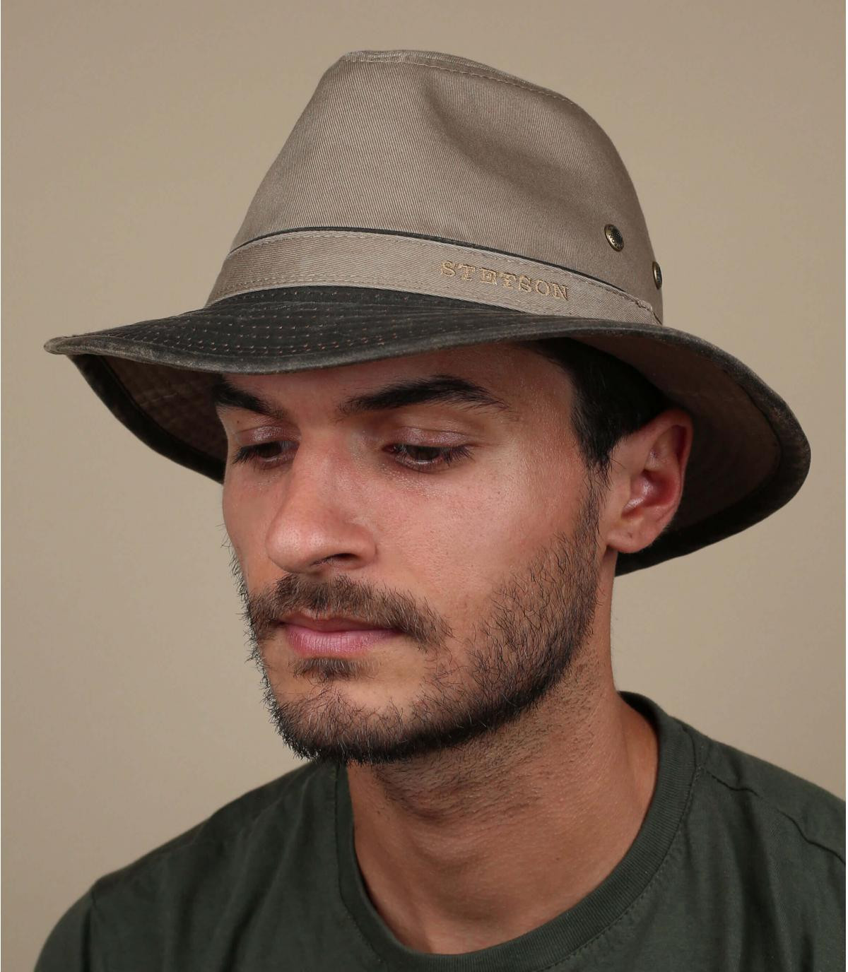 los viajes de algodón sombrero gris