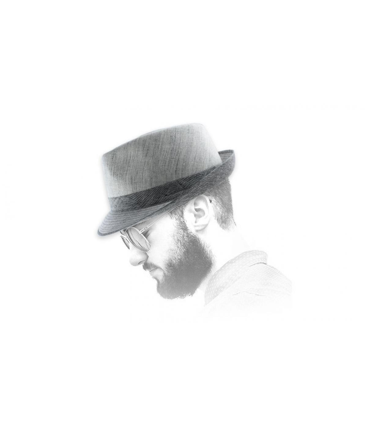 ligeras rayas sombrero de paño de tela azul