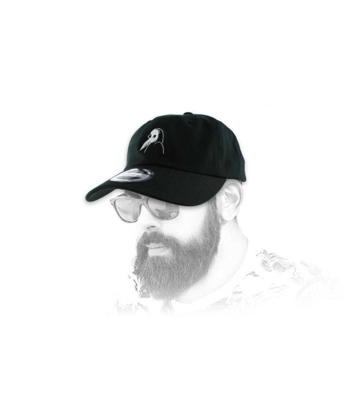 gorra curva de máscara plaga