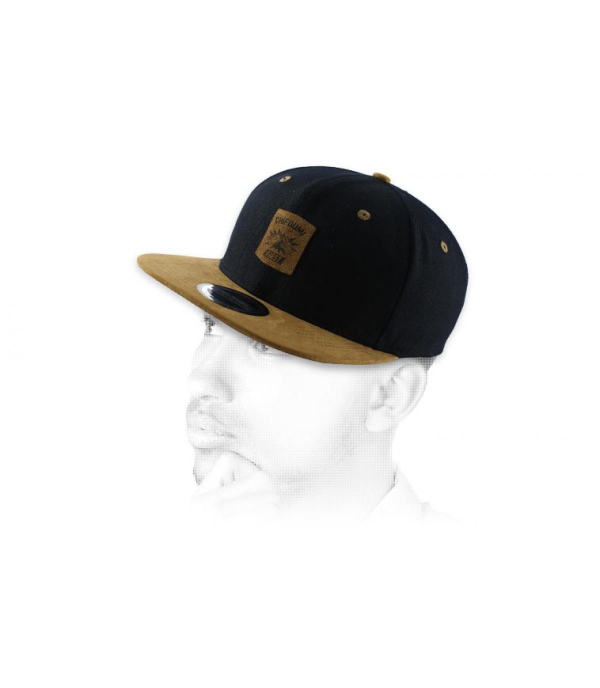 snapback marrón negro Chifoumi