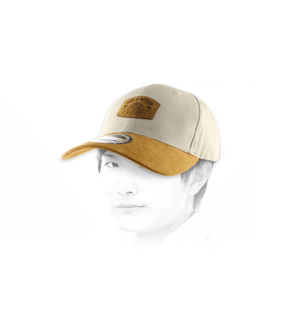 gorra curva tándem camello amarillento