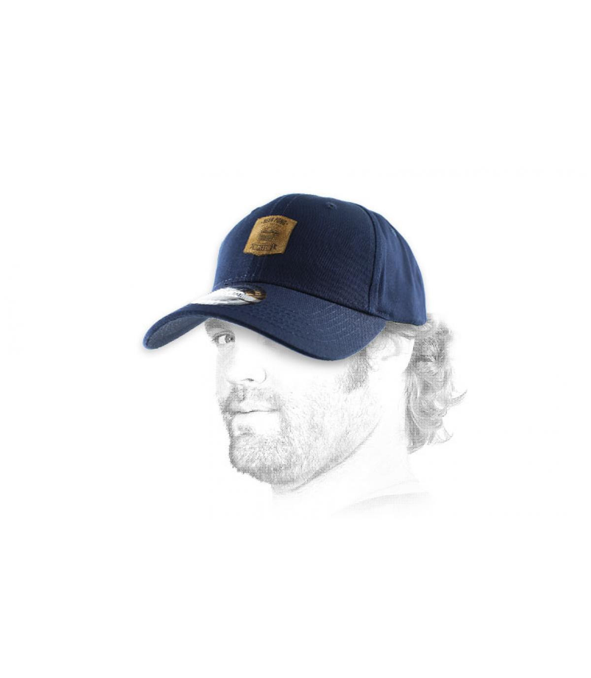 gorra curva pong azul cerveza