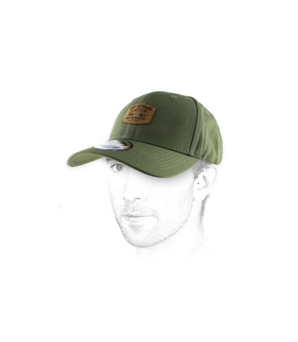 gorra curva Combi de oliva