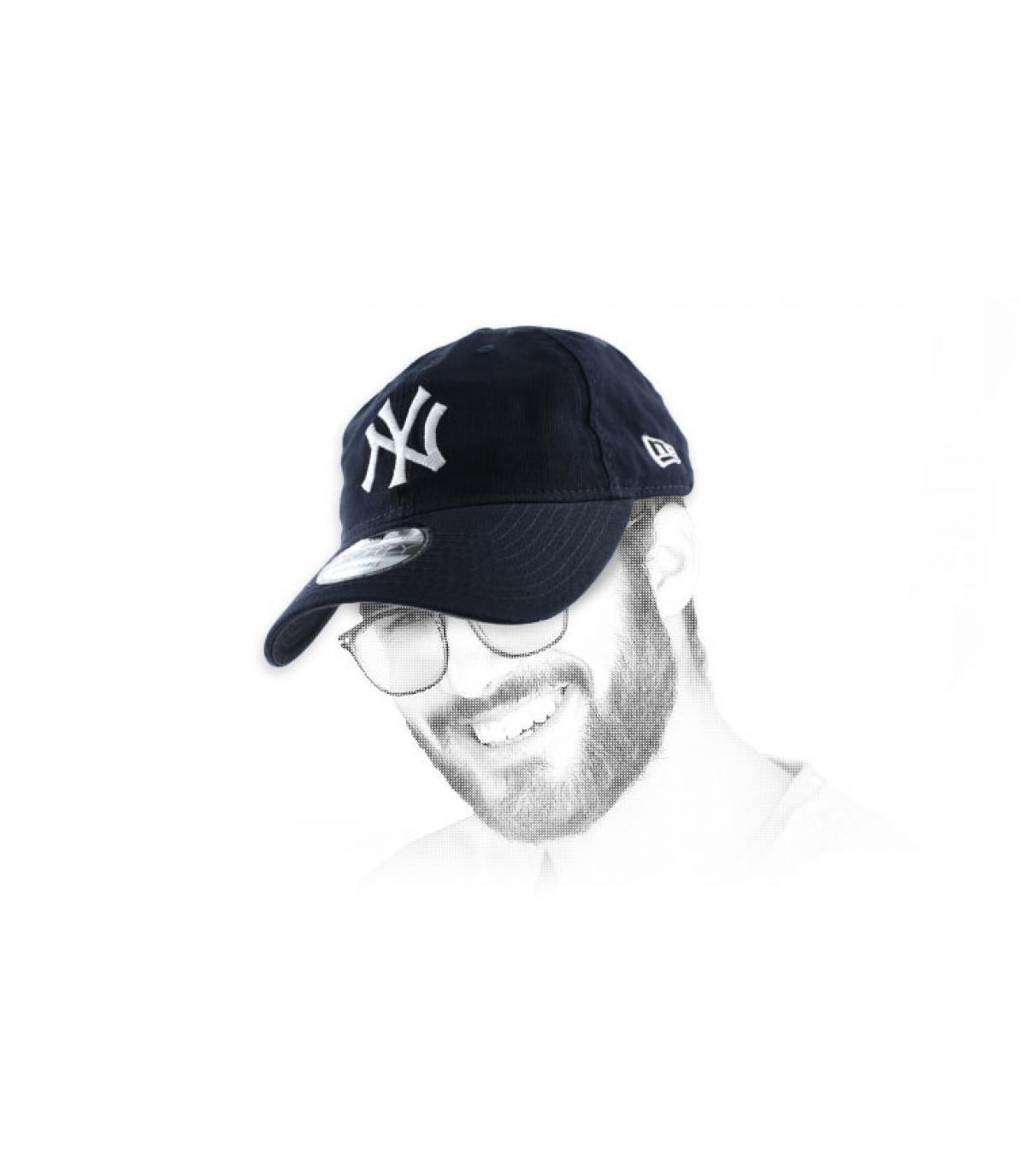 NY estructurado azul gorra