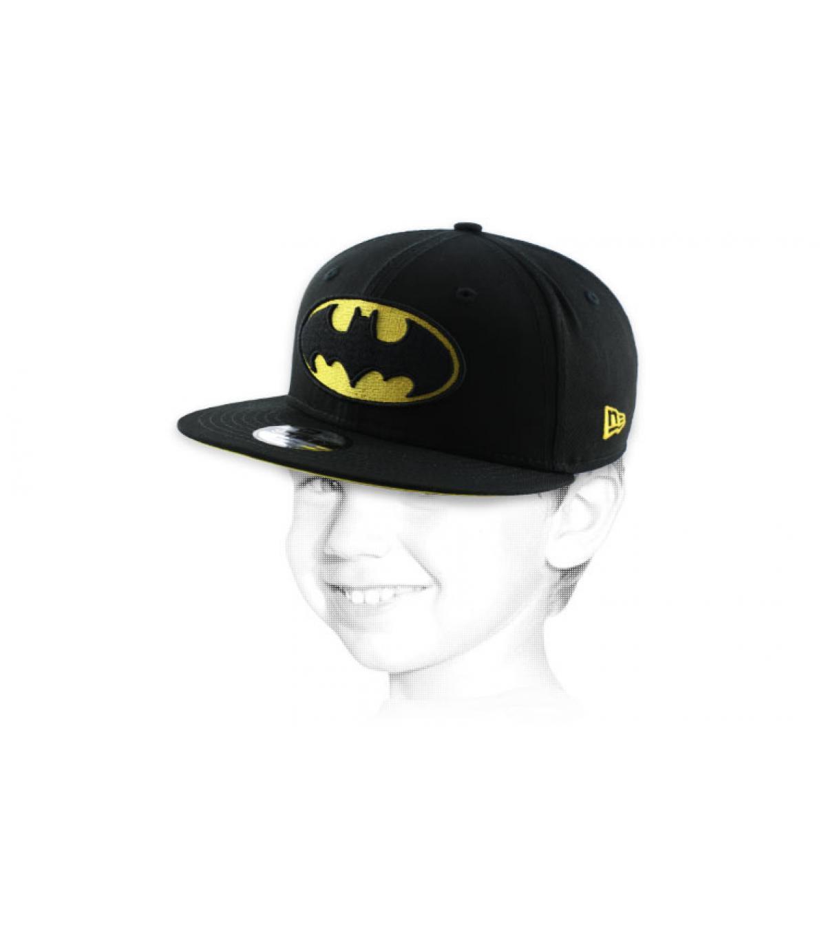 Batman niño del gorra del negro