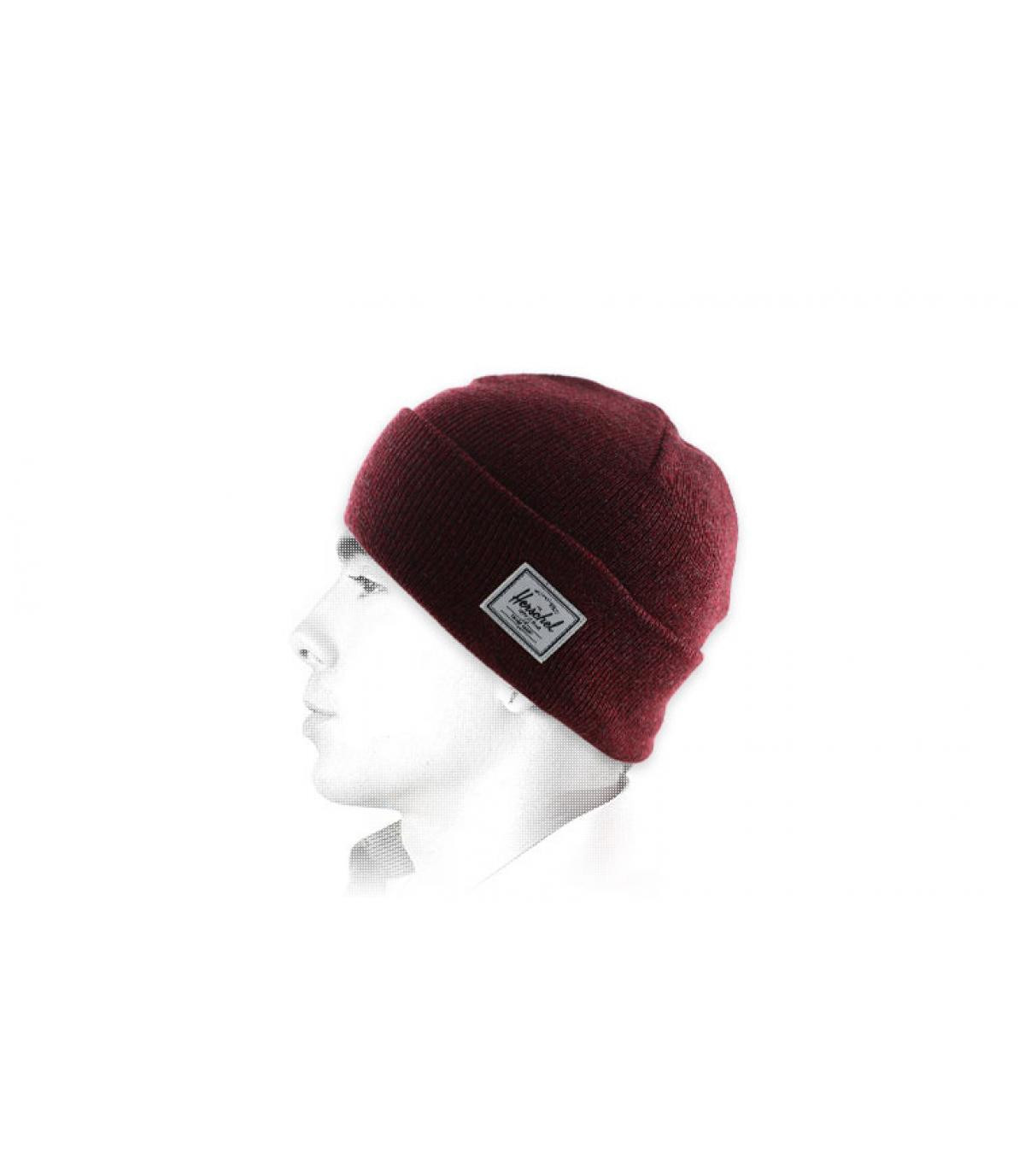 solapa marrón sombrero de Herschel