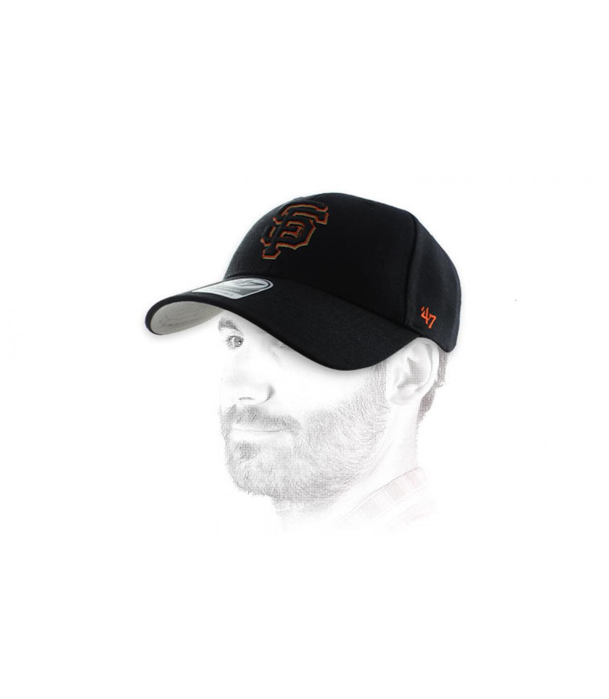 naranja negro gorra SF