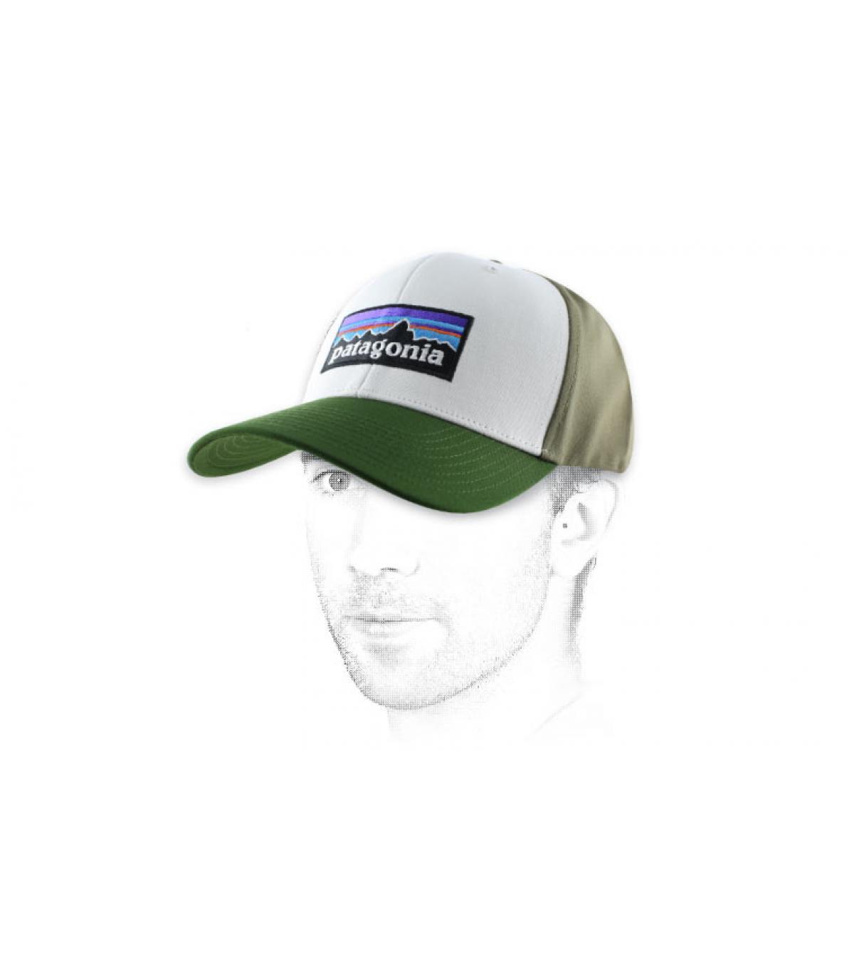 curva verde casquillo blanco Patagonia