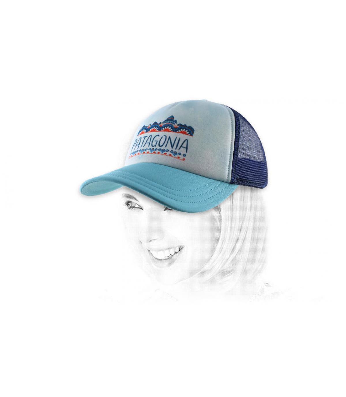 gorra de la Patagonia mujer azul