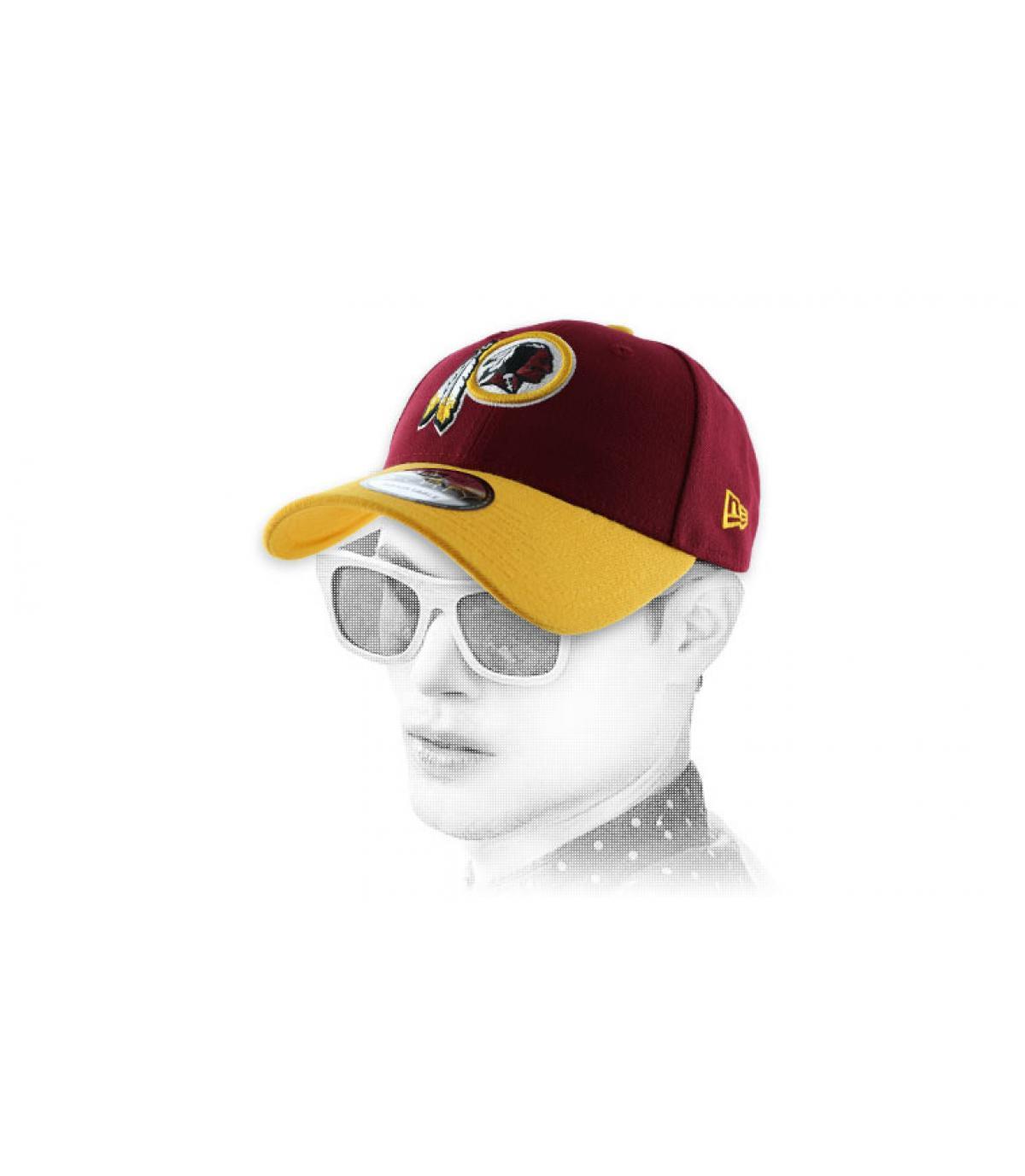 curva de gorra Redskins amarillo rojo