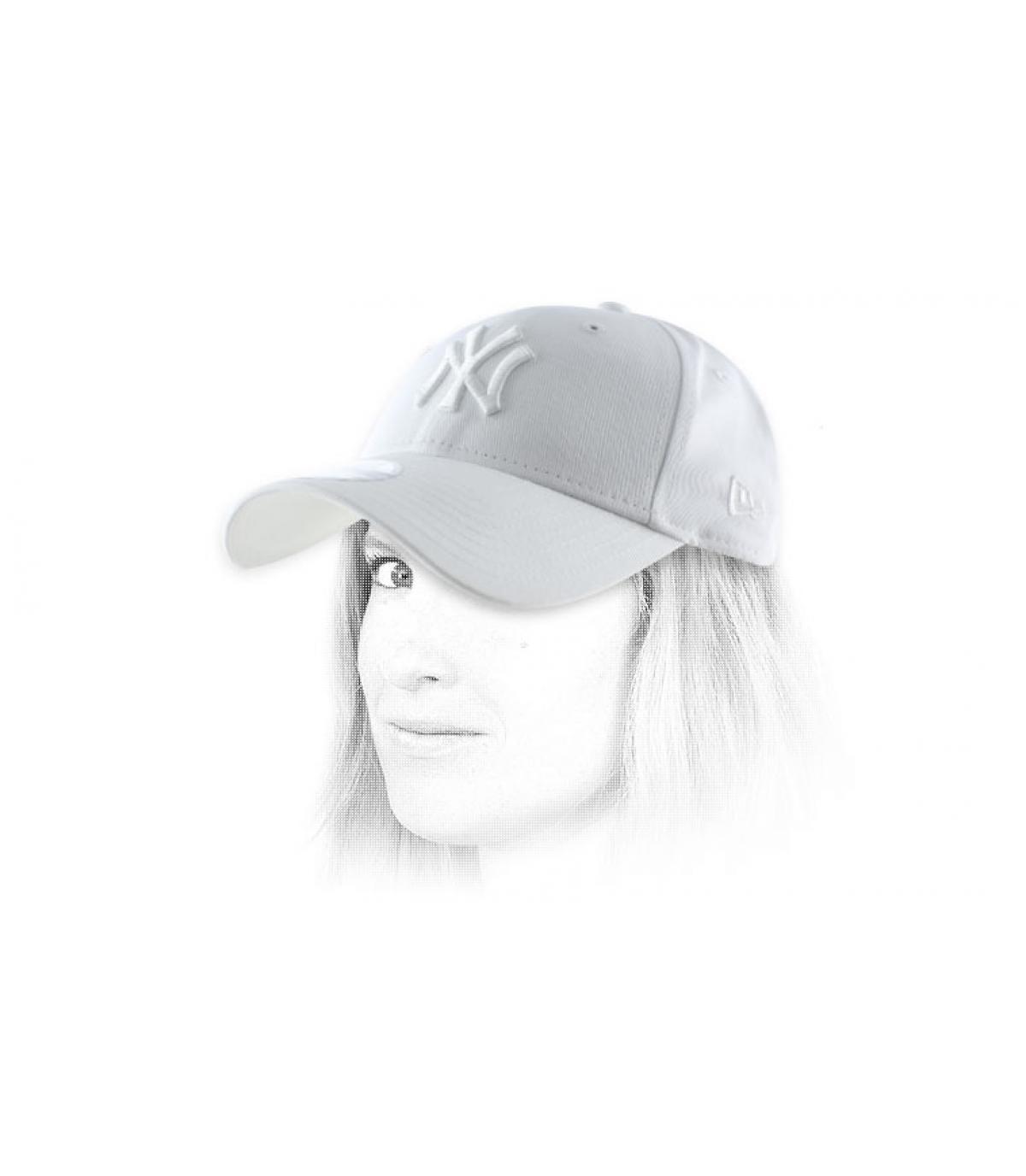 blanco Mujer gorra de NY