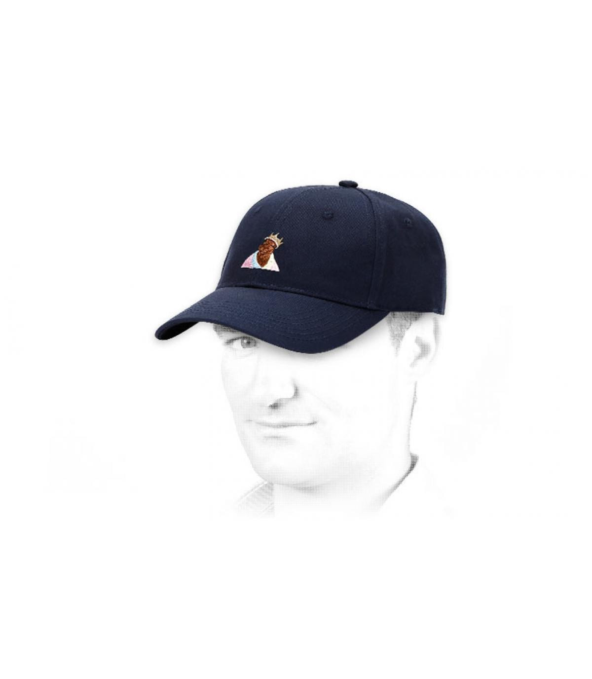 gorra azul curva Cayler