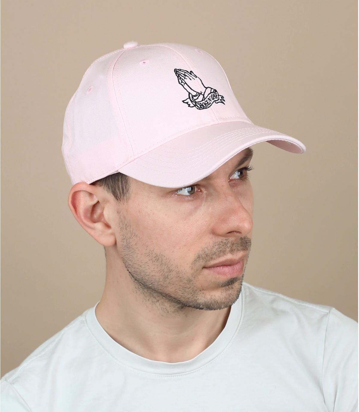 curva gorra oración rosa