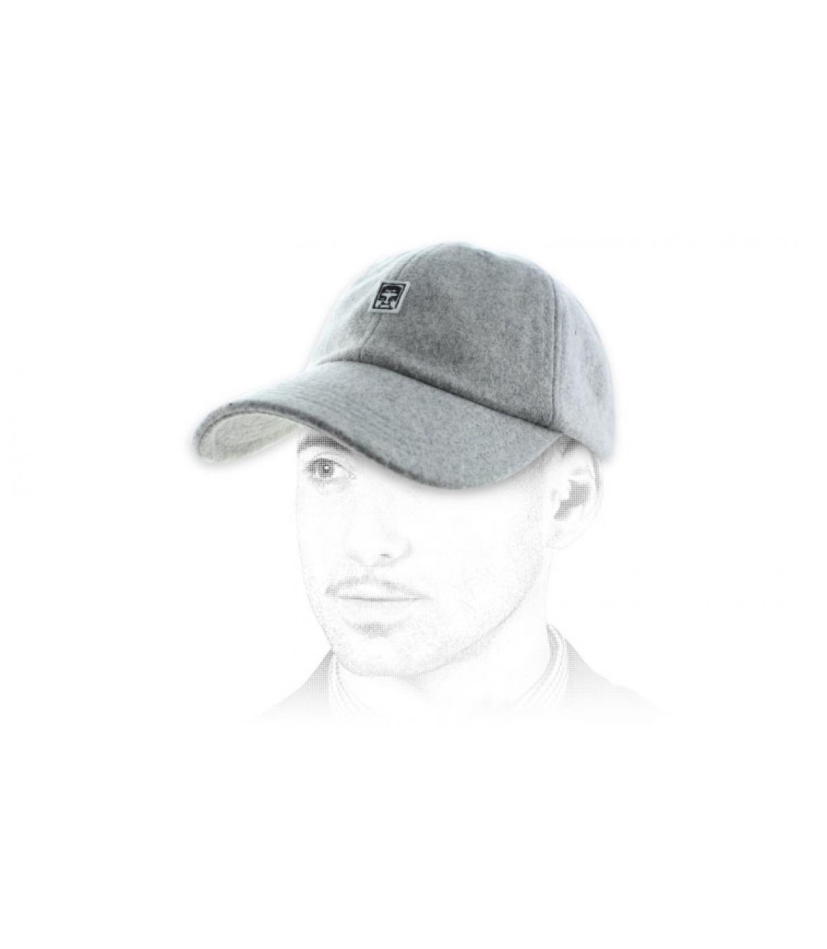 gorra Obey el color gris jaspeado