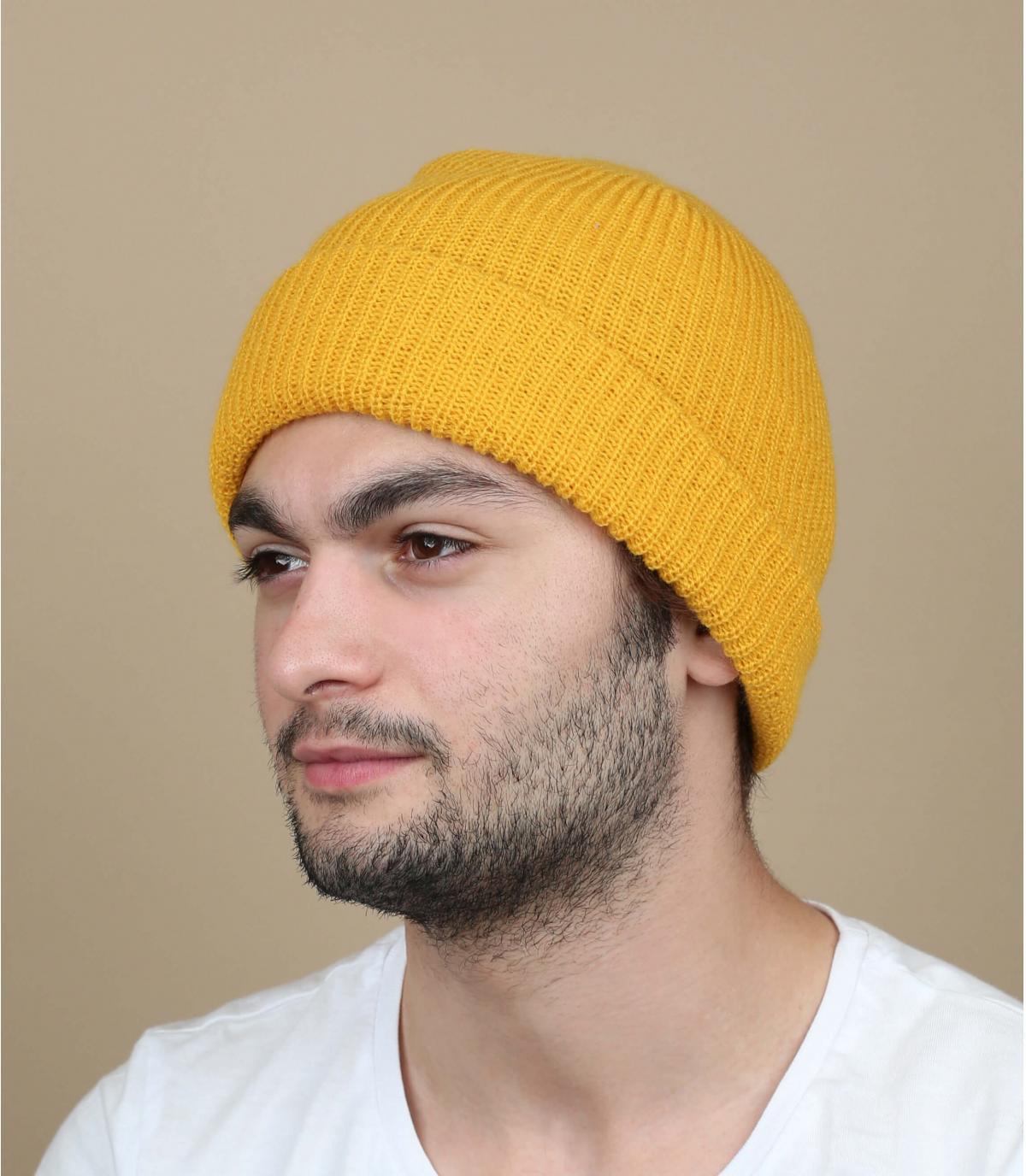 sombrero de la solapa de mostaza Brixton