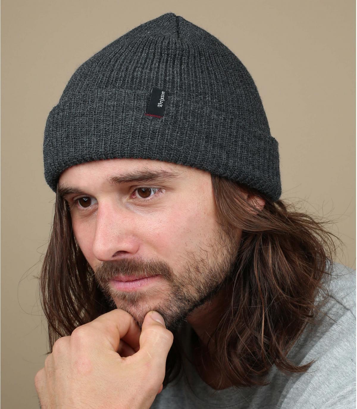 sombrero de la solapa de color gris moteado Brixton