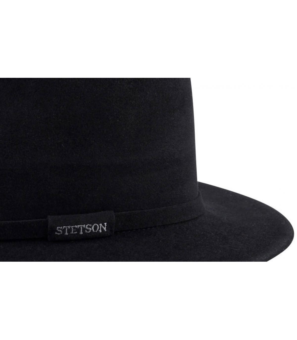 Sombrero borsalino stetson. Detalles Michael negro imagen 5  Detalles  Michael negro imagen 1 ... a41760a438f