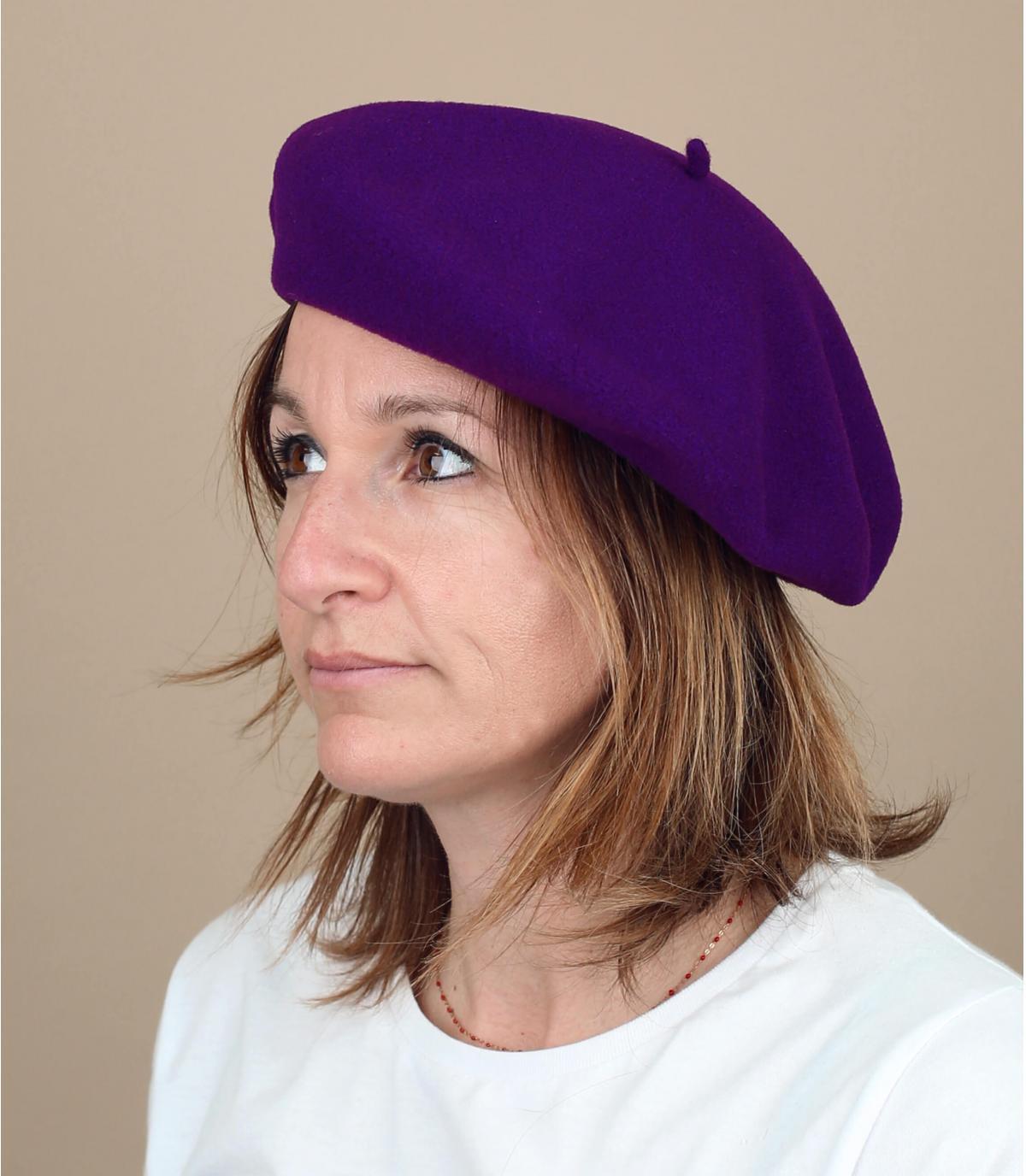 boina púrpura forrada