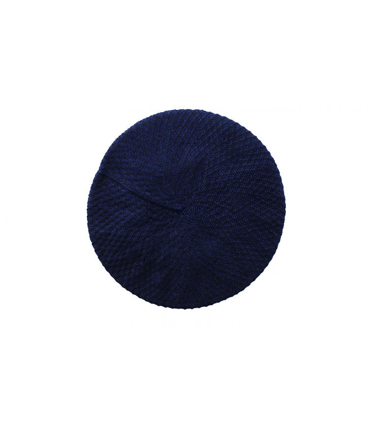 Héritage par Laulhère. boina azul de algodón Laulhère. Detalles Béret  Cotton midnight imagen 3  Detalles Béret Cotton midnight imagen ... 259ec8bc43b