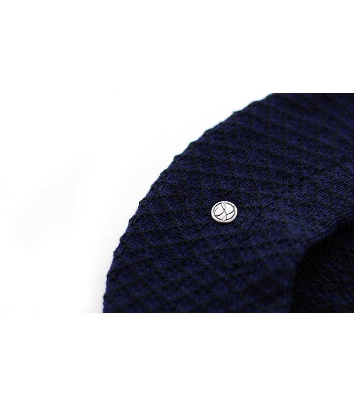 Héritage par Laulhère. boina azul de algodón Laulhère. Detalles Béret  Cotton midnight imagen 3 ... cdb2563dd76