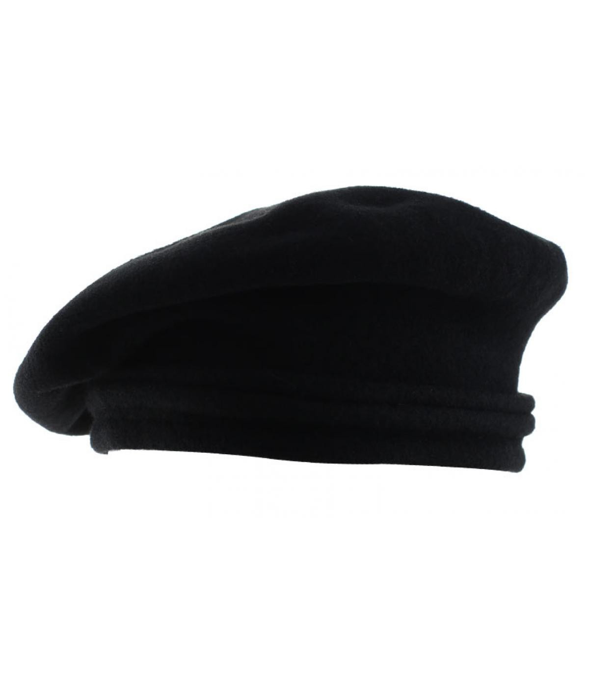 boina negro lana inclinado
