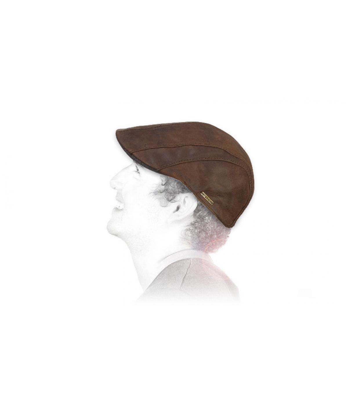 boina de cuero de cabra Stetson