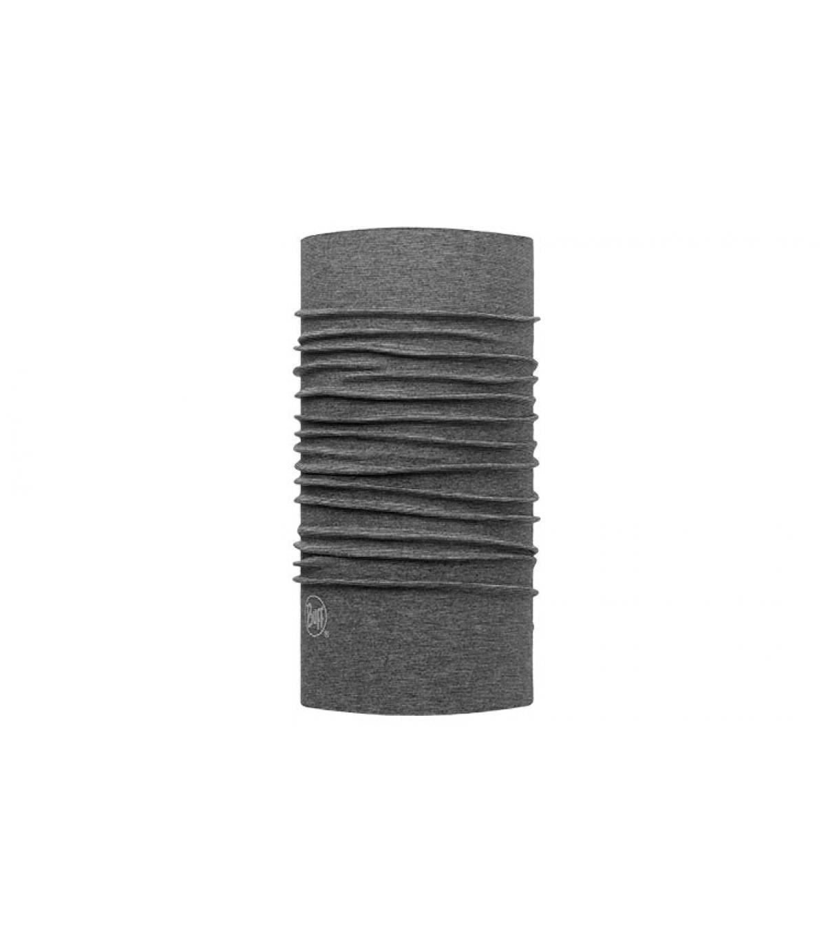 cuello redondo gris moteado de color de ante