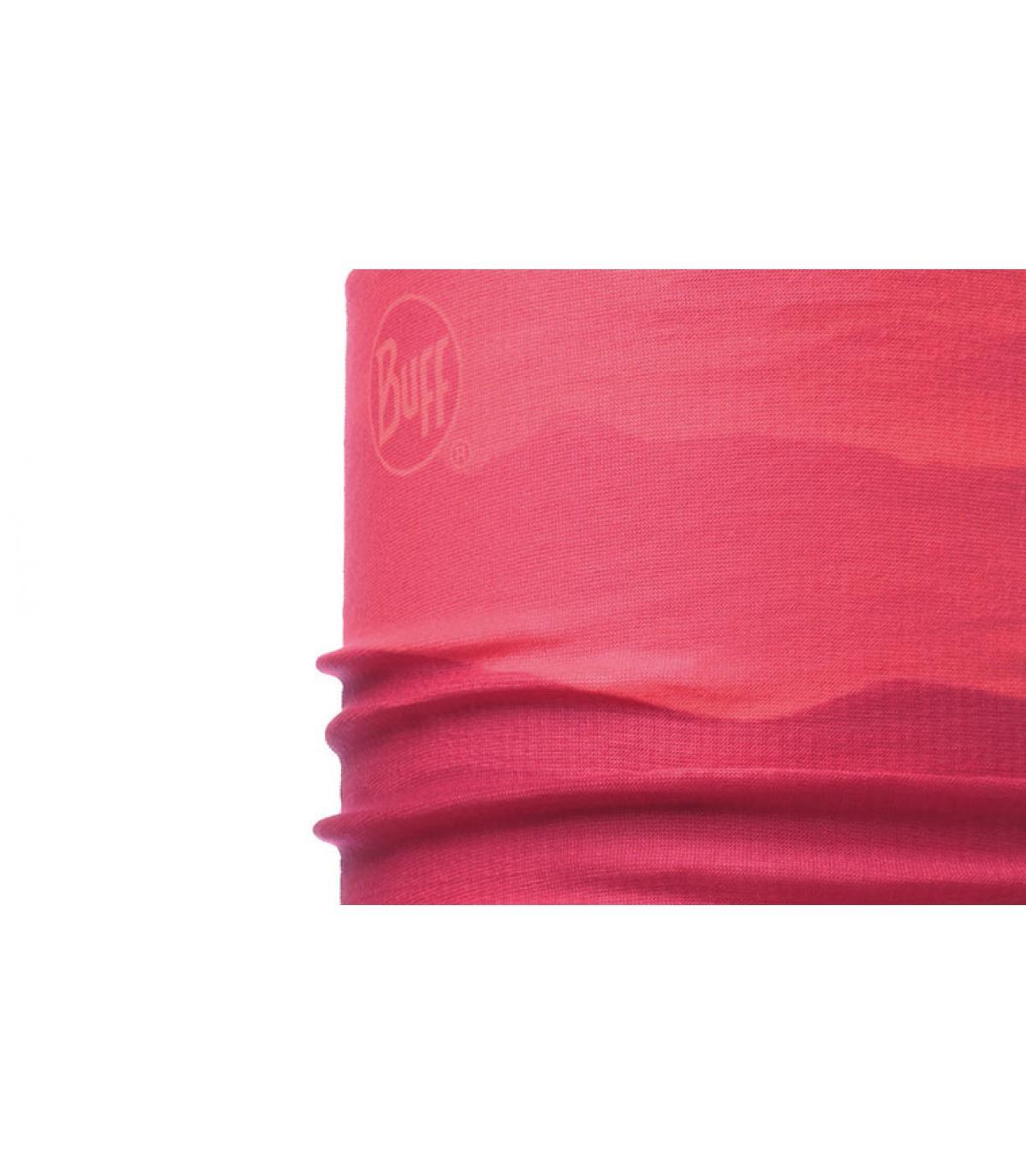 Buff cuello gradiente de color rosa
