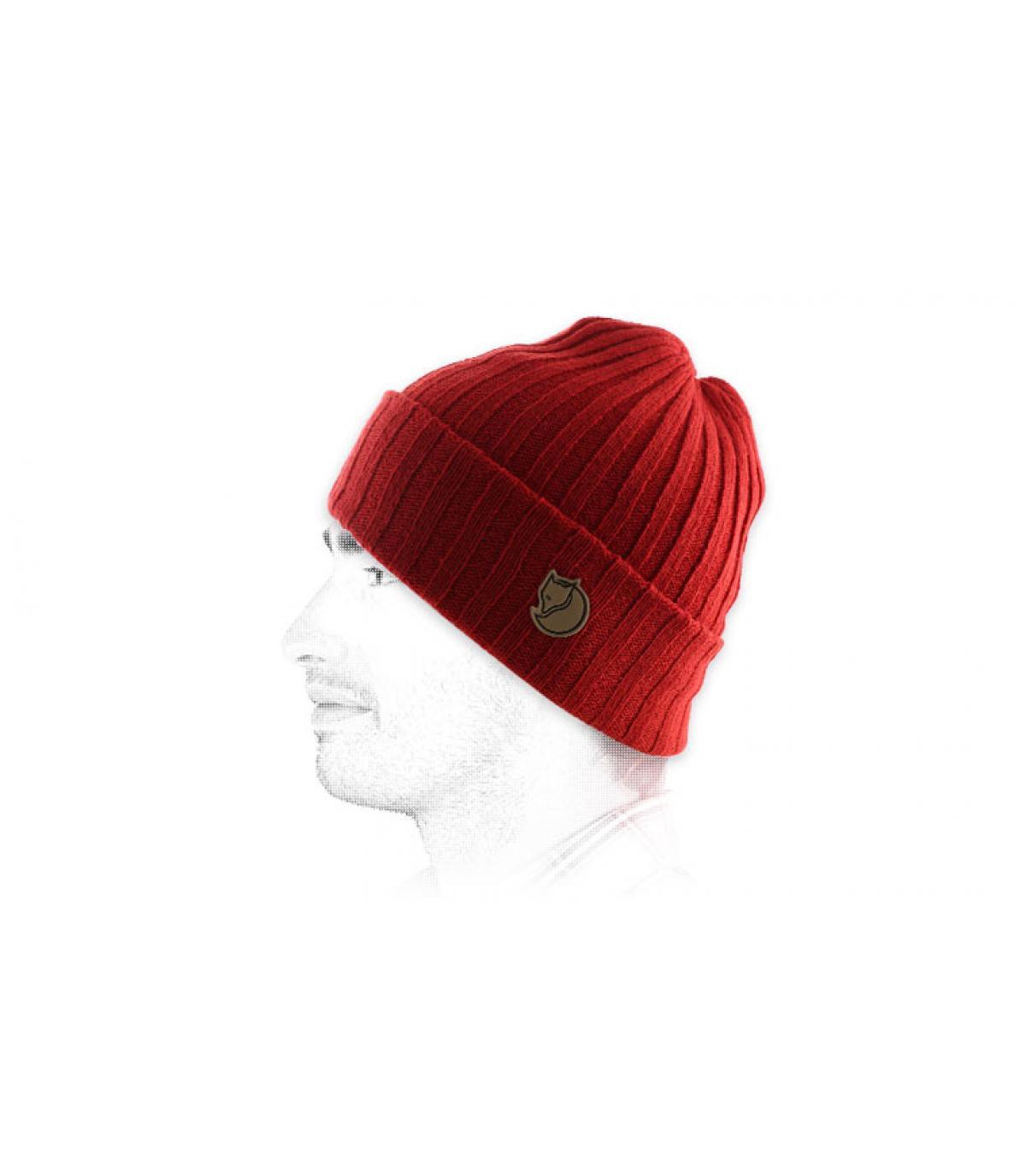 gorra roja Fjällräven revés