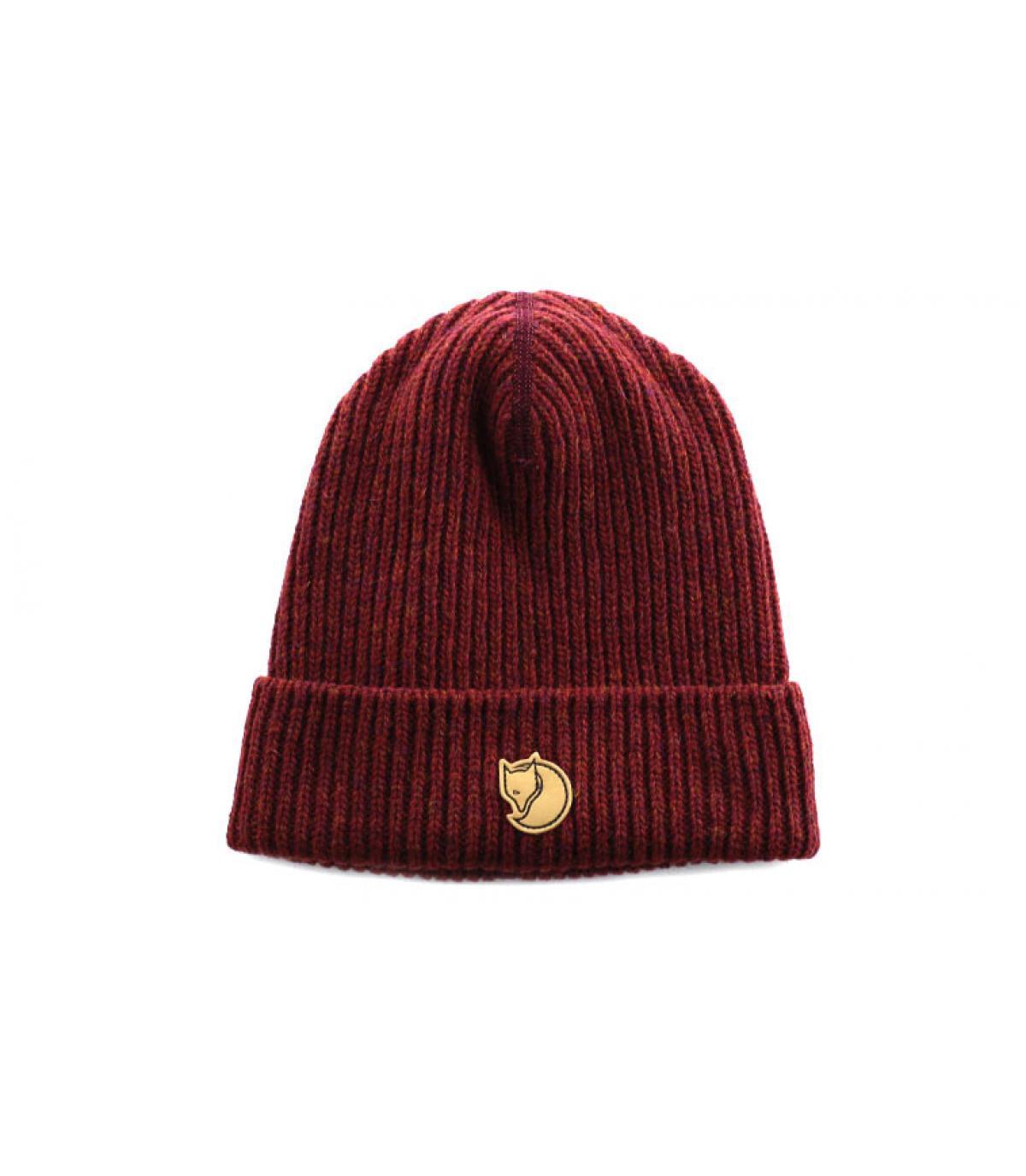 gorro solapa de lana burdeos - Rib beanie red oak Fjallraven imagen 1 ... 0b20cd478a6