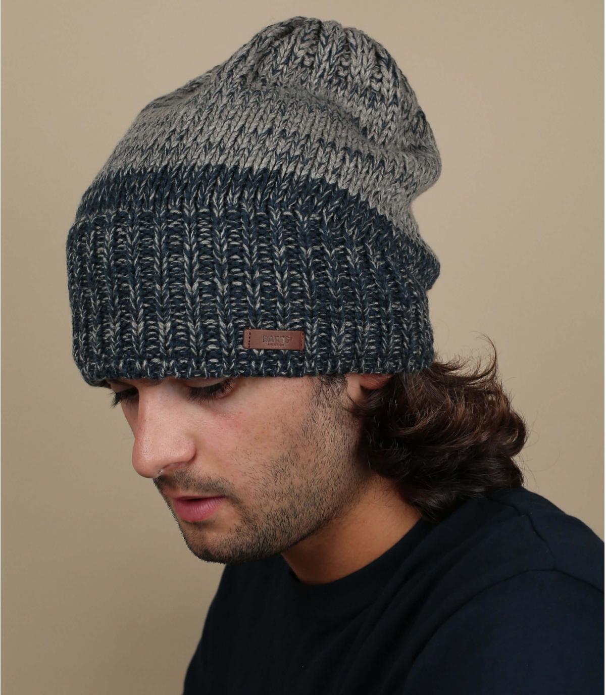 Largo gorra gris azul Barts