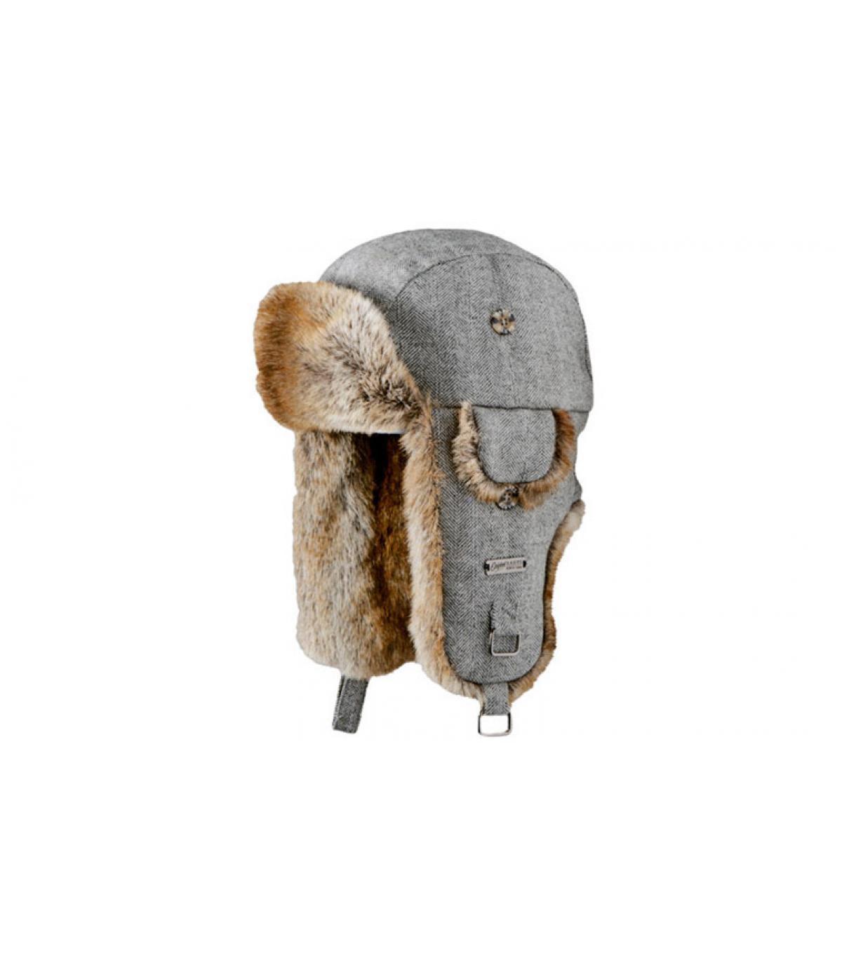 Gorro ruso Kamikaze gris