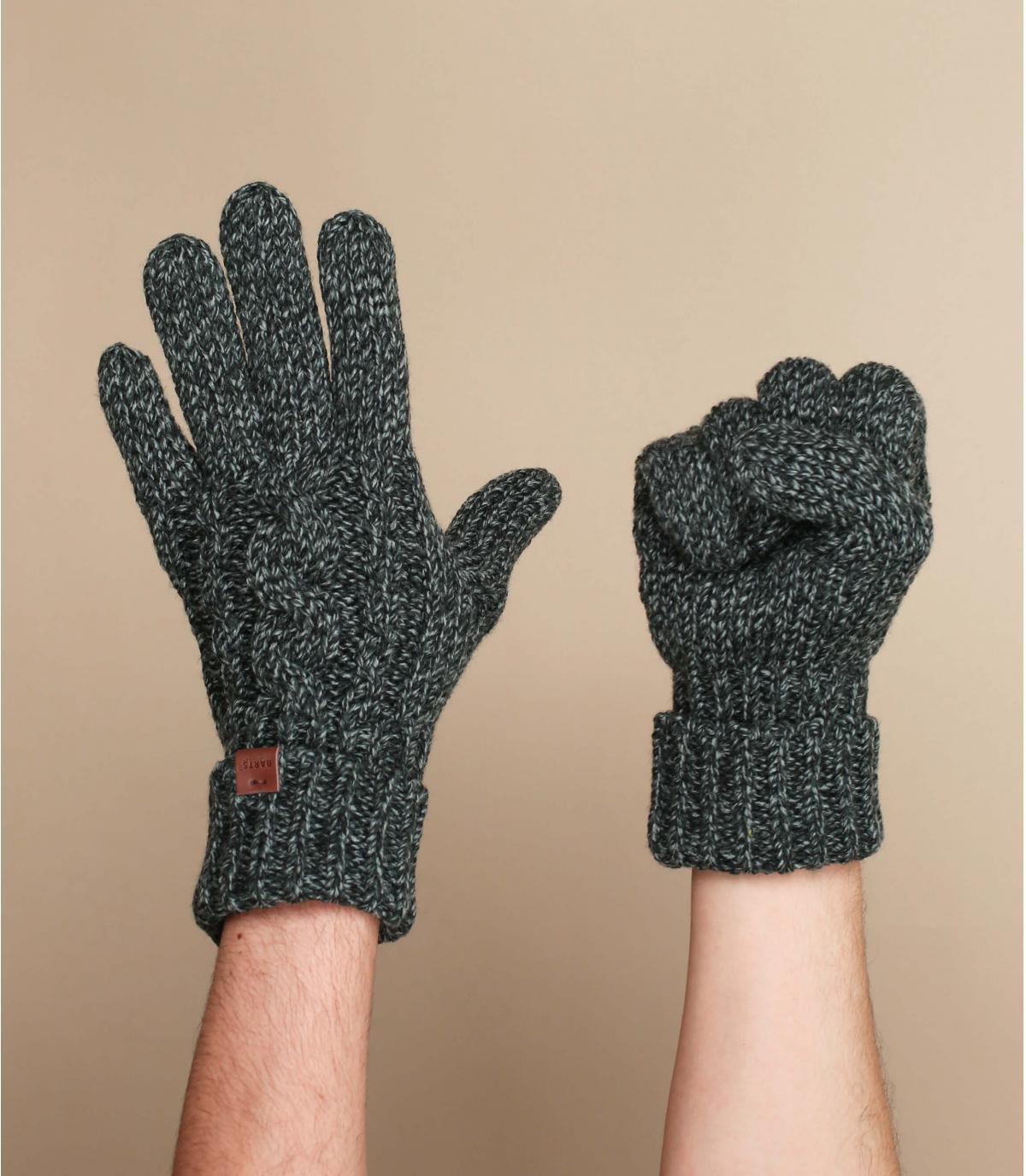 Negro Barts guantes de giro