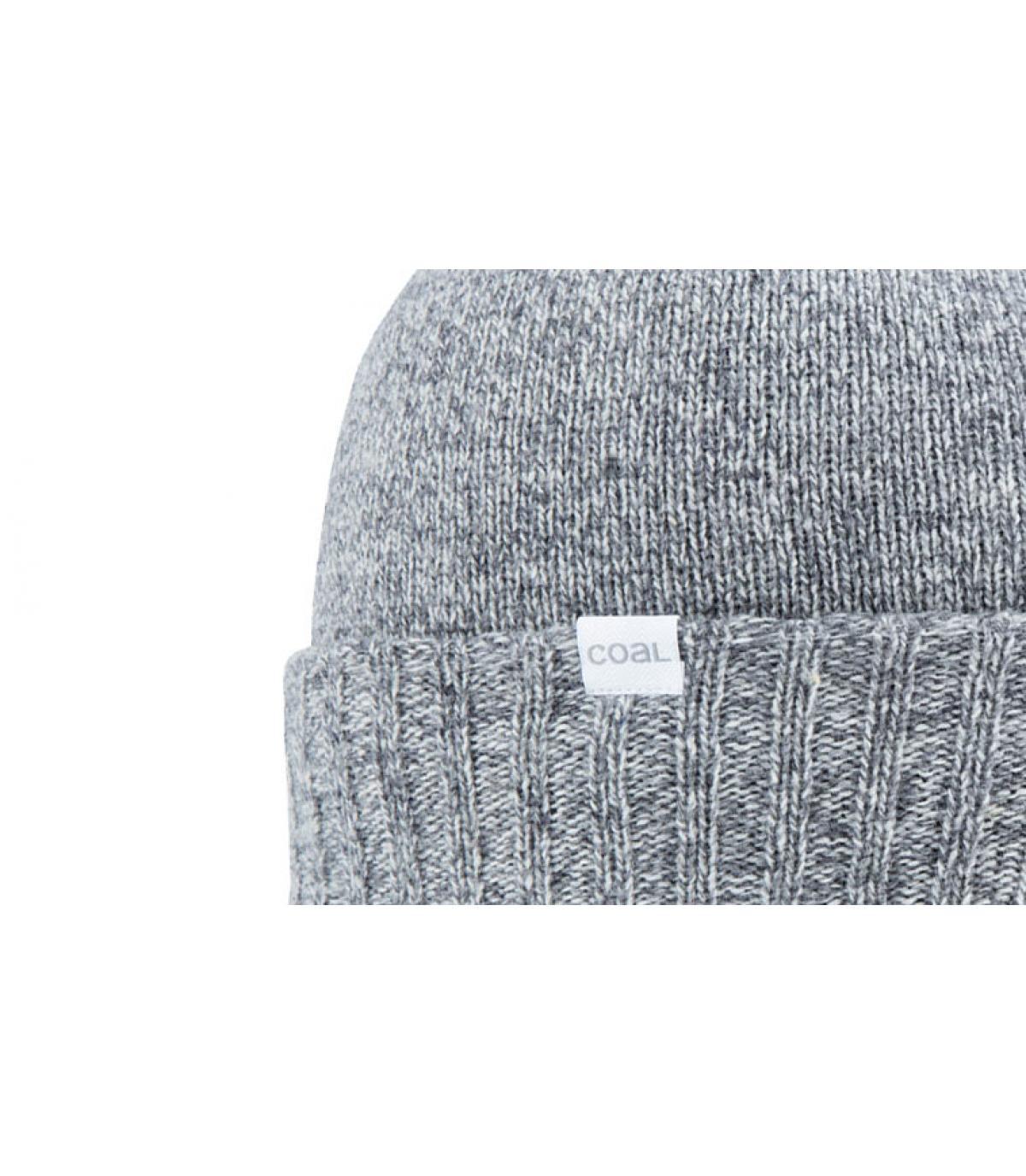gorro de lana gris carbón