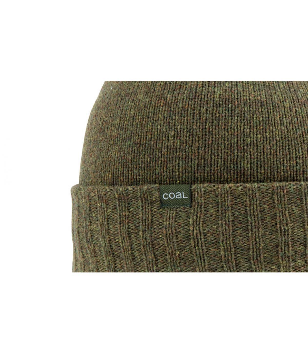 lana verde gorro Carbón