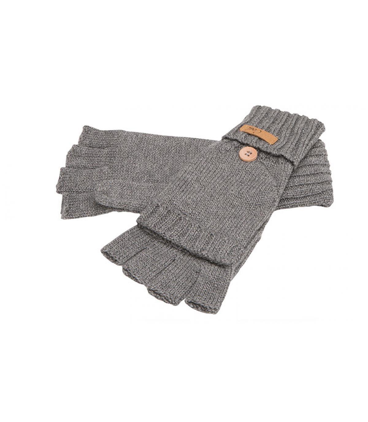 mitones guantes grises