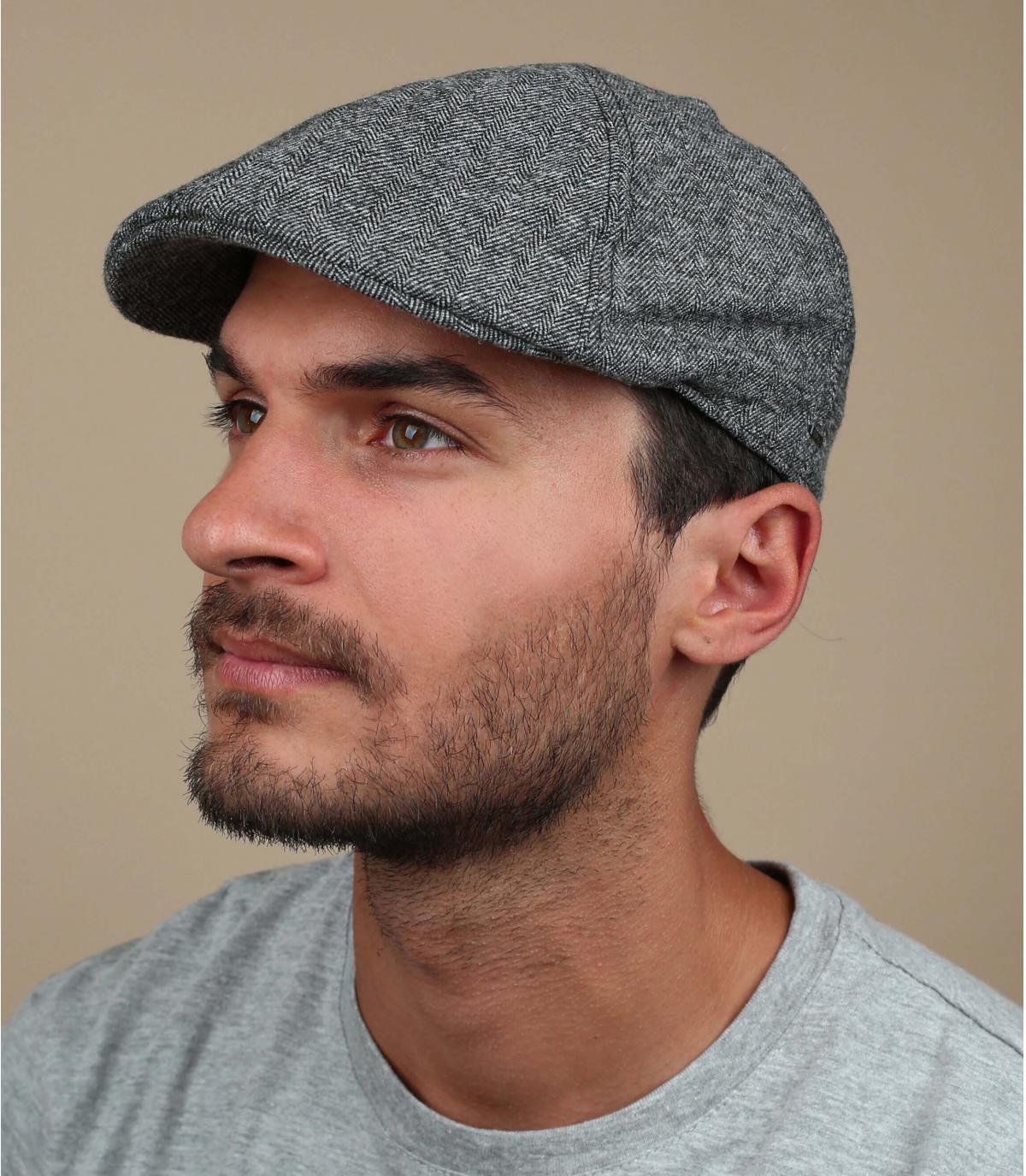 gorra de algodón negro de pico de pato