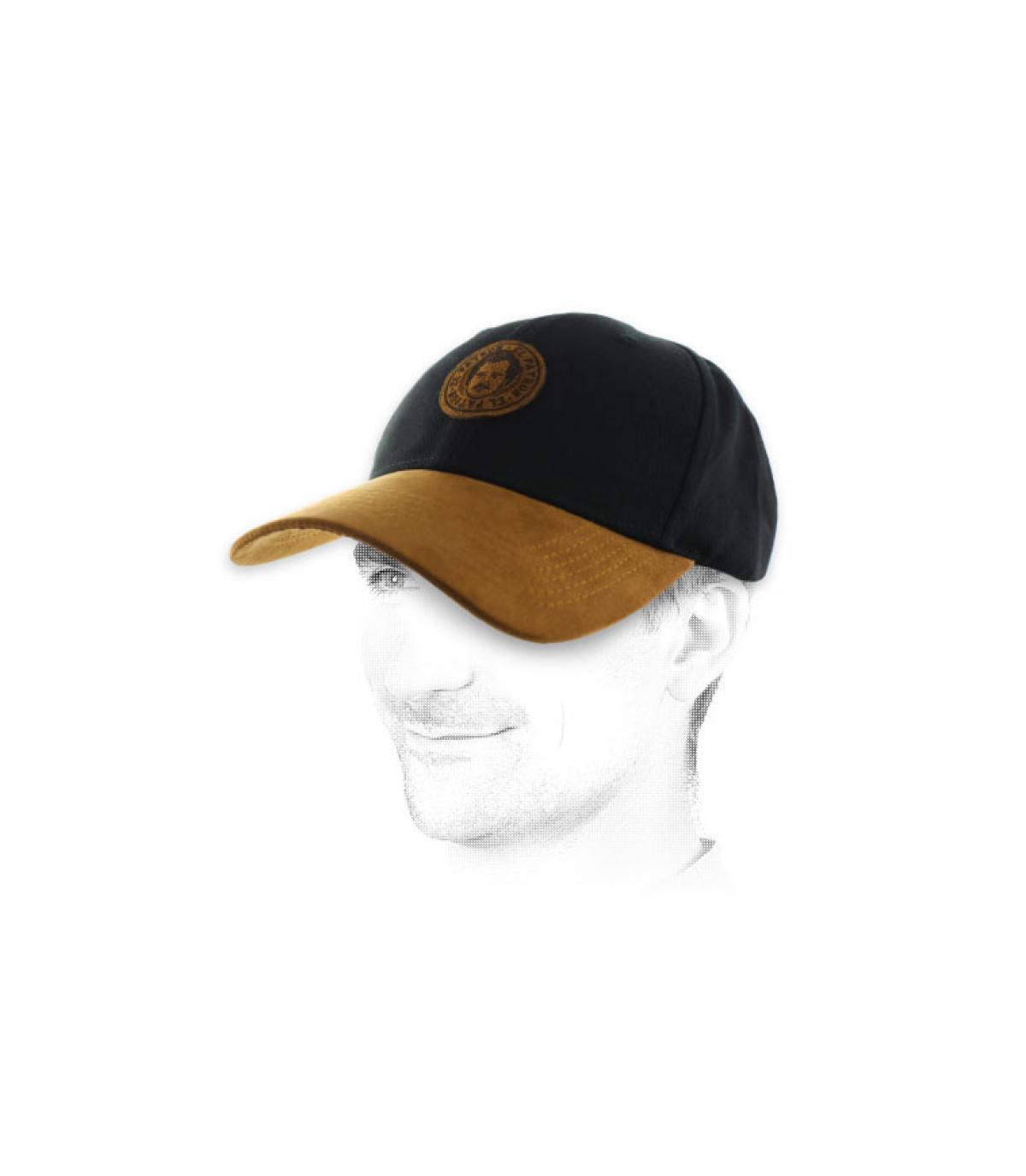 gorra Pablo negro ante