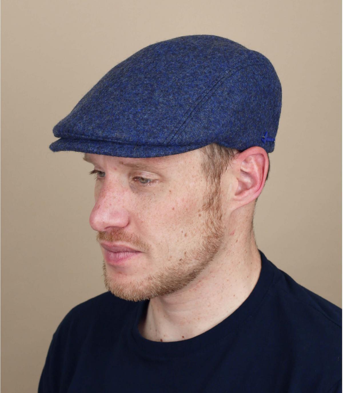 azul boina taza oído lana